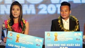 Chương Thị Kiều 4 lần được vinh danh ở giải thưởng Quả bóng vàng VN. Ảnh: Thanh Đình