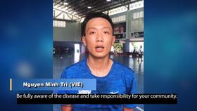 Nguyễn Minh Trí, cầu thủ futsal đầu tiên tham gia chiến dịch  #BreakTheChain