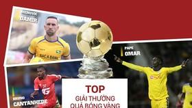 Tốp 3 giải thưởng cầu thủ nước ngoài xuất sắc 2019. Đồ họa: Hữu Vy