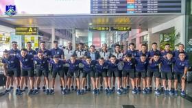 ĐKVĐ Thái Sơn Nam đã đến Nha Trang ngày 12-6. Ảnh: TSNFC