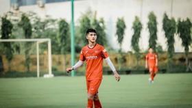 Nguyễn Cảnh Anh ở đợt tập trung đội tuyển U22 Việt Nam mới đây