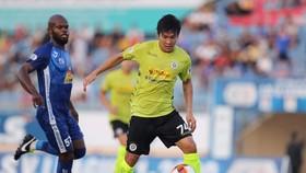 Cầu thủ trẻ Trương Văn Thái Quý tiếp tục tìm được chỗ đứng trong đội hình chính Hà Nội FC. Ảnh: TỊNH ĐẾ