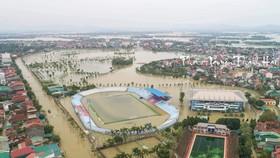Sân Hà Tĩnh nhìn từ trên cao ngày 21-10
