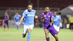 Perdo, tác giả 2 bàn thắng cho CLB Sài Gòn. Ảnh: DŨNG PHƯƠNG