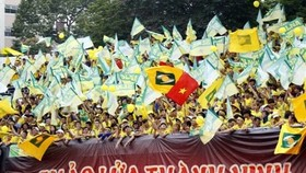 Khán giả SLNA vốn nổi tiếng rất nhiệt với đội nhà, cả trên sân Vinh lẫn sân khách