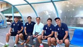 """""""Bộ tham mưu"""" đội U19 Đồng Tháp"""