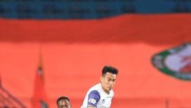 Đội Topenland Bình Định có trận thắng quý giá trên sân Hàng Đẫy ở vòng 11. Ảnh: HNFC