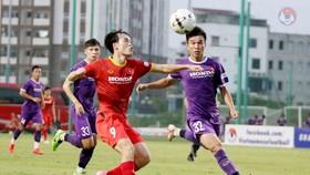 U22 Việt Nam chủ yếu đá tập với đội tuyển Việt Nam từ đầu giai đoạn tập huấn đến nay