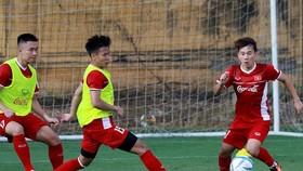 Minh Vương vẫn chưa thể đồng hành cùng đội tuyển tại vòng loại cuối World Cup 2022. Ảnh: MINH HOÀNG