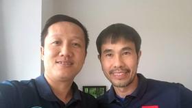 HLV Phạm Minh Giang và trợ lý Huỳnh Tấn Quốc