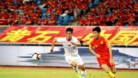 Tiến Linh đã từng ghi 2 bàn trong chiến thắng 2-0 của U22 Việt Nam trước U22 Trung Quốc vào năm 2019