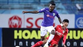 Hoàng Vũ Samsom khi còn thi đấu cho CLB Hà Nội