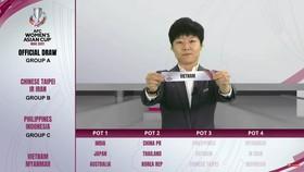 Đội nữ Việt Nam cùng bảng C với Nhật Bản, Hàn Quốc và Myanmar