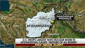 """Mỹ ném """"mẹ của các loại bom"""" xuống sào huyệt của IS ở Afghanistan"""
