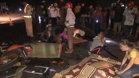 Hai xe máy tông nhau, 4 người chết, 1 người bị thương