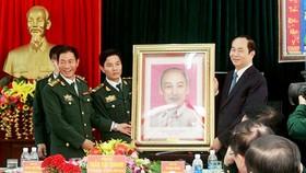 Chủ tịch nước Trần Đại Quang thăm, chúc tết đồn biên phòng, xã biên giới tại Gia Lai
