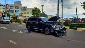 Điều tra các đối tượng tông xe, nổ súng giữa phố Pleiku