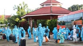 Kon Tum đón 269 người dân từ TPHCM về quê