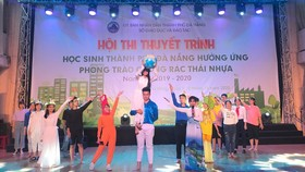 Hội thi thuyết trình Học sinh thành phố Đà Nẵng hưởng ứng phong trào chống rác thải nhựa