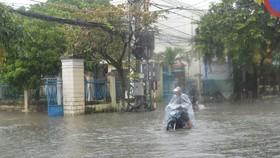 Mực nước trên sông Vu Gia và các sông thuộc TP Đà Nẵng đang lên
