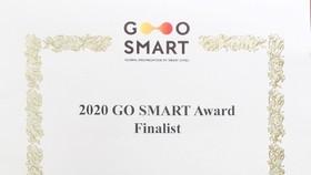 Giấy chứng nhận sản phẩm Chatbot dịch vụ công của Sở TT&TT TP Đà Nẵng lọt vào vòng chung kết GO SMART Award năm 2020