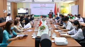 ThS. Lương Minh Sâm, Chủ tịch Hội đồng trường, Phó Hiệu trưởng Đại học Đông Á phát biểu tại hội thảo