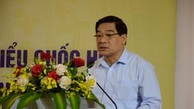Ông Hà Ngọc Chiến, Ủy viên Trung ương Đảng, Chủ tịch Hội đồng Dân tộc của Quốc hội phát biểu tại hội nghị