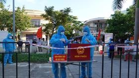Phường An Hải Bắc (quận Sơn Trà, TP Đà Nẵng) tổ chức diễn tập bầu cử trong tình hình dịch Covid-19 vào chiều 18-5