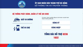 Cơ quan, doanh nghiệp đăng ký trực tuyến tại địa chỉ https://giaydiduong.dananggov.vn