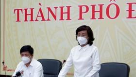 Bà Ngô Thị Kim Yến, Phó Chủ tịch UBND TP Đà Nẵng phát biểu