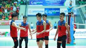 Đội tuyển bóng chuyền nam Việt Nam về đích ở vị trí thứ 3. Ảnh: THIÊN HOÀNG