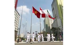 Đoàn Thể thao Việt Nam tổ chức thượng cờ