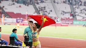 Bùi Thị Thu Thảo và giây phút tạo nên lịch sử cho điền kinh Việt Nam.