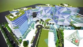 Phối cảnh Trung tâm Đào tạo Công nghệ cao đang xây dựng  tại Khu Công nghệ cao TPHCM