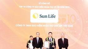 Sun Life Việt Nam - Tốp 10 công ty BHNT uy tín nhất Việt Nam năm 2019