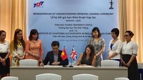 ICAEW đẩy mạnh hợp tác cùng Đại học Tôn Đức Thắng