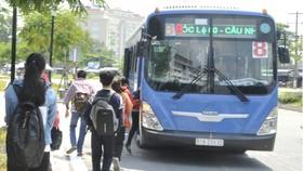 Xe buýt sử dụng khí CNG (thân thiện  môi trường) tại TPHCM