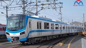 Hình ảnh đoàn tàu đầu tiên thuộc tuyến Metro số 1. Ảnh: HCMC Metro