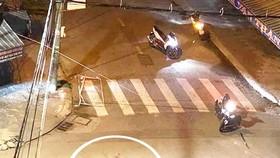 Một vụ hỗn chiến xảy ra ở Quy Nhơn. Ảnh cắt từ clip