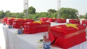 Cải táng 99 bộ hài cốt liệt sĩ tại Nghĩa trang Dốc Bà Đắc