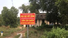Chính quyền cắm bảng cấm đầu nậu chiếm dụng, phân lô bán nền đất công