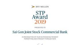 SCB vinh dự nhận giải thưởng STP Award của The Bank of New York Mellon