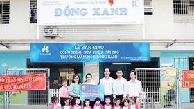Hòa Bình tài trợ cải tạo Trường Mầm non Đồng Xanh (Cơ sở 2)