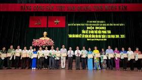 """UBND quận 5 đã khen thưởng tập thể có thành tích xuất sắc trong phong trào """"Toàn dân đoàn kết xây dựng đời sống văn hóa"""" giai đoạn 2000-2020"""