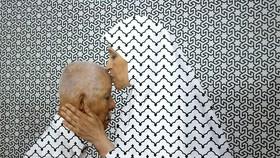 Tác phẩm Sorry, I forgive you của nghệ sĩ nước ngoài trưng bày tại Ithra