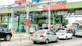 Các phương tiện lưu thông qua trạm thu phí Vĩnh Phú 2 - Bình Dương chủ yếu qua làn hỗn hợp