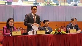 Phó Thủ tướng Vũ Đức Đam phát biểu tại hội nghị. Ảnh: VOV