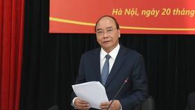 Thủ tướng làm việc với Hội Nạn nhân chất độc da cam/dioxin Việt Nam. Ảnh: VGP/Quang Hiếu