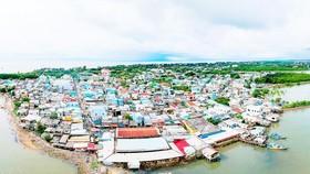 Thị trấn Cần Thạnh, huyện Cần Giờ. Ảnh: HOÀNG HÙNG