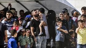 Người tị nạn Syria tại thị trấn Kilis, miền Trung Thổ Nhĩ Kỳ. Ảnh minh họa: AFP/TTXVN